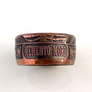 "⚡️Host Pick⚡️""Memento Mori"" Copper Men's Ring"